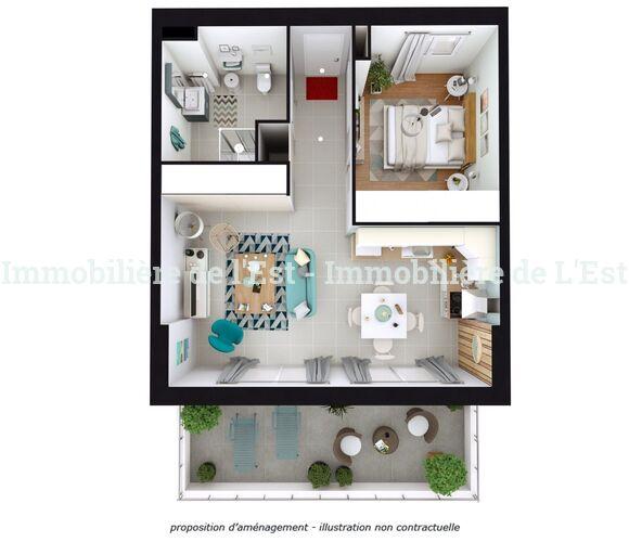 Vente Appartement 2 pièces 43m² Grésy-sur-Isère (73460) - photo
